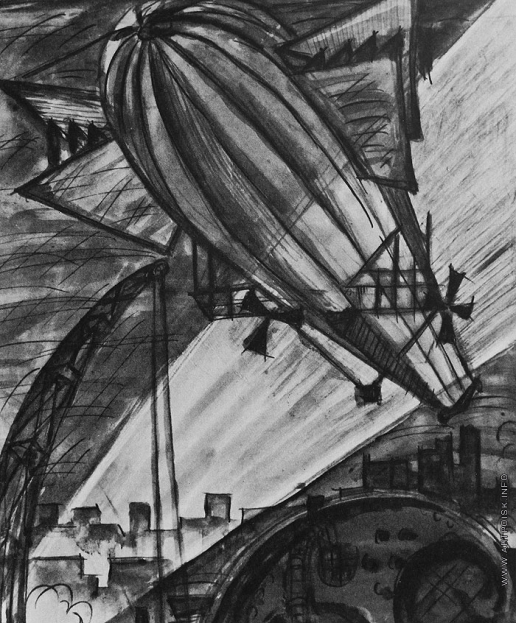 Добужинский М. В. Композиция с летательным аппаратом