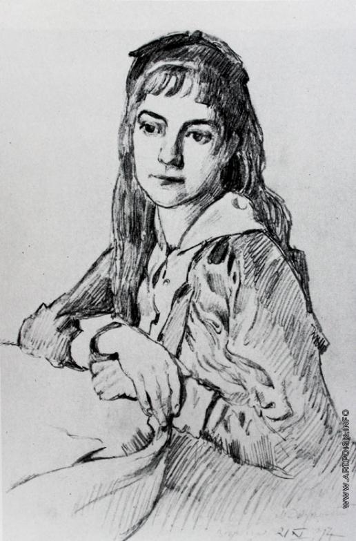 Добужинский М. В. Верочка. Портрет дочери художника