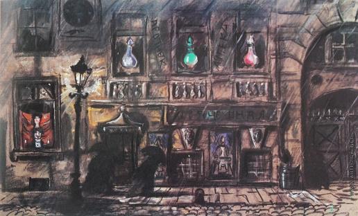 Добужинский М. В. Ночь в Петербурге