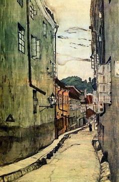 Добужинский М. В. Улица стекольщиков в Вильно