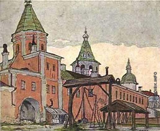 Добужинский М. В. Новгород.  Двор Ярослава