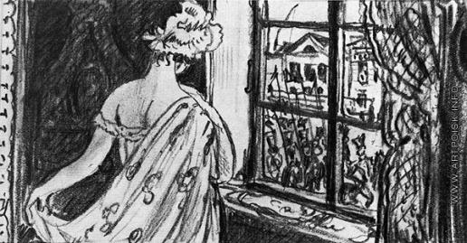 Добужинский М. В. Эскиз-вариант иллюстрации к поэме М.Ю. Лермонтова «Казначейша»