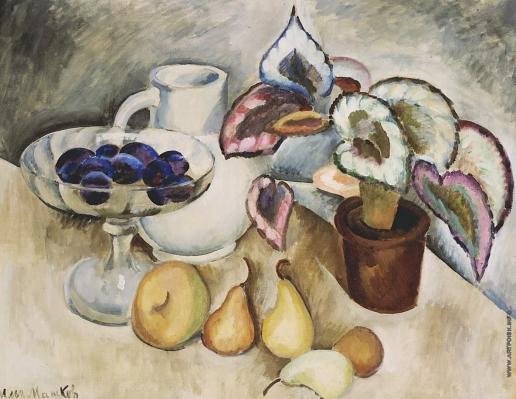 Машков И. И. Натюрморт с белым кувшином и фруктами