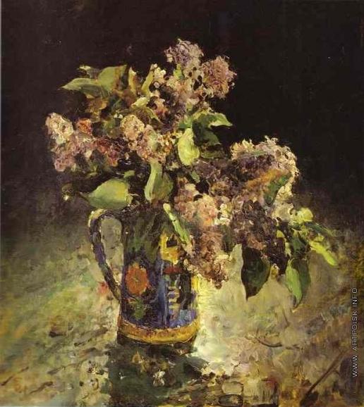 Серов В. А. Сирень в вазе
