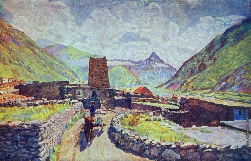 Машков И. И. Грузия. Казбек. Вид на гору Кабарджино и аул