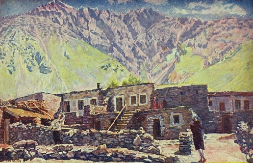 Машков И. И. Грузия. Казбек. Шат-гора и аул