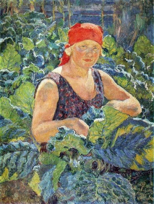 Машков И. И. Девушка на табачной плантации