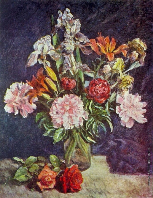 Машков И. И. Букет цветов. Пионы, ирисы, лилии