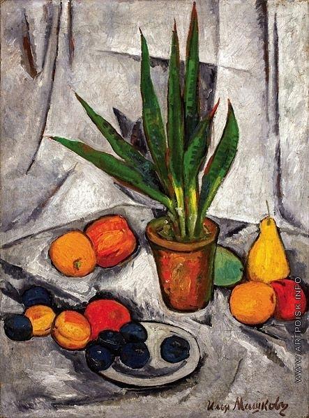 Машков И. И. Натюрморт с растениями и фруктами