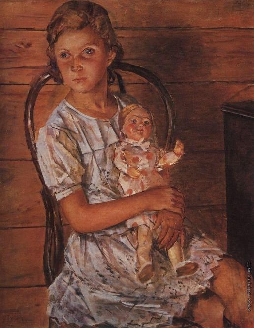 Петров-Водкин К. С. Девочка с куклой. Портрет Татули