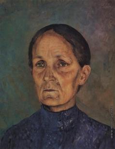 Петров-Водкин К. С. Портрет А.П. Петровой-Водкиной, матери художника