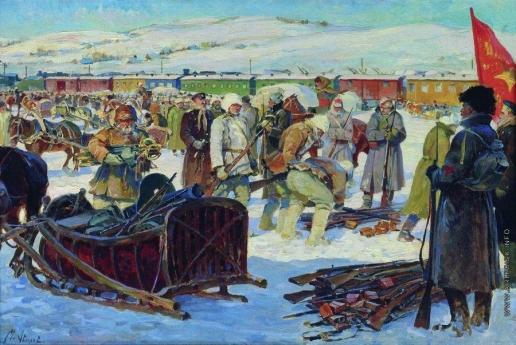 Авилов М. И. Разоружение частей Колчаковской армии