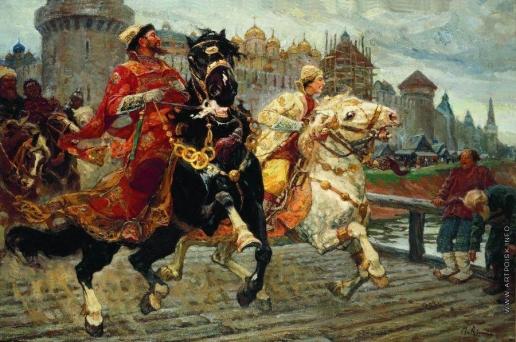 Авилов М. И. Царевич Иван на прогулке