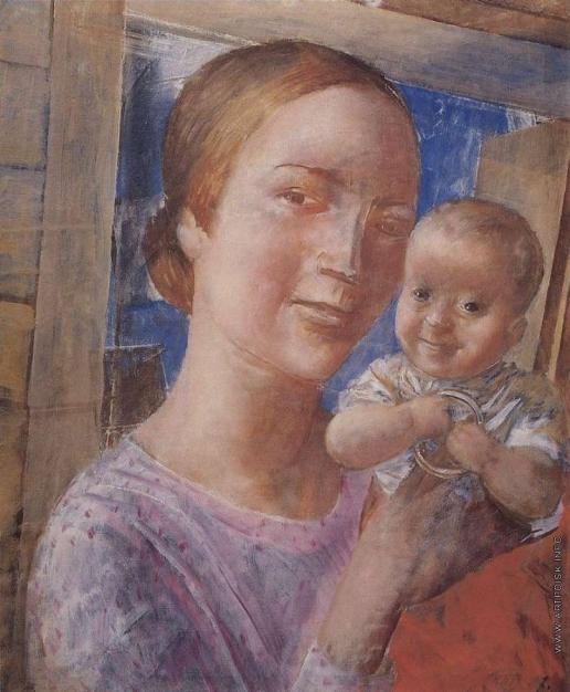 Петров-Водкин К. С. Мать и дитя