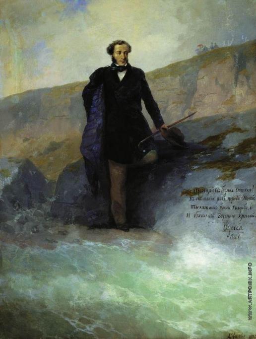 Айвазовский И. К. А.С. Пушкин на берегу Черного моря