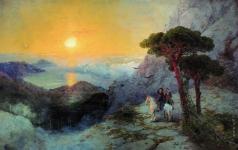 Айвазовский И. К. А.С. Пушкин на вершине Ай-Петри при восходе солнца