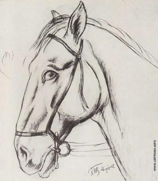 Петров-Водкин К. С. Рисунок для картины Купание красного коня