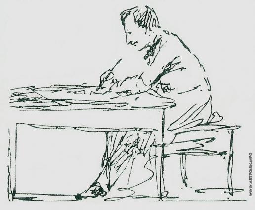 Айвазовский И. К. Автопортрет. За письменным столом