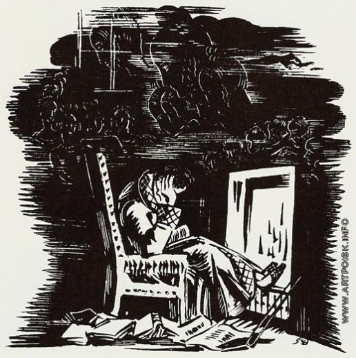 Добужинский М. В. Иллюстрация к поэме А.С. Пушкина «Евгений Онегин»