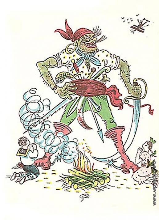Добужинский М. В. Иллюстрация к сказке К. И. Чуковского «Бармалей»