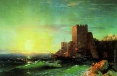 Айвазовский И. К. Башни на скале у Босфора