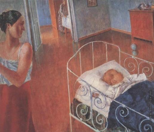 Петров-Водкин К. С. Спящий ребенок
