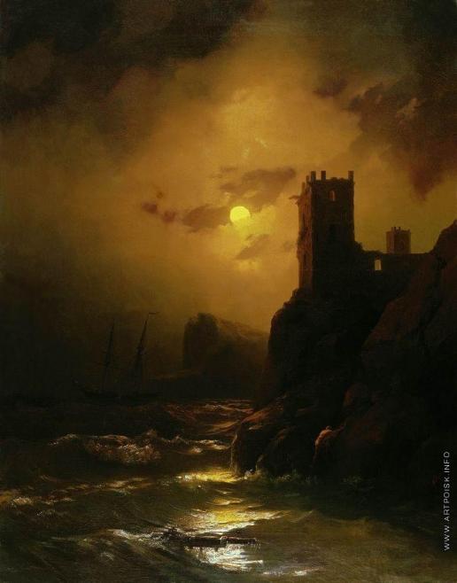 Айвазовский И. К. Башня. Кораблекрушение