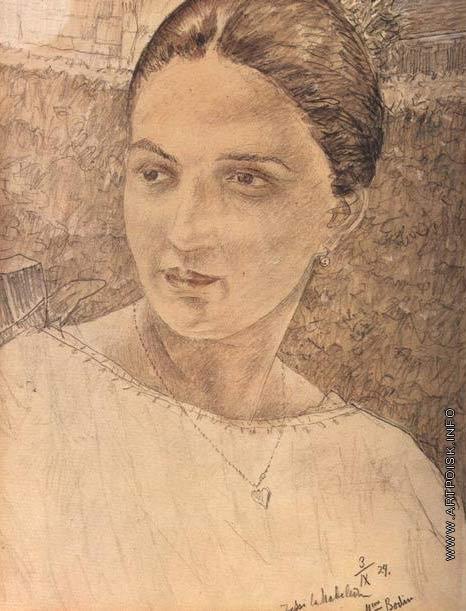 Петров-Водкин К. С. Портрет мадам Боден
