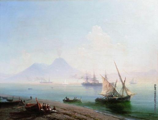 Айвазовский И. К. Берег Неаполя. Вид Везувия