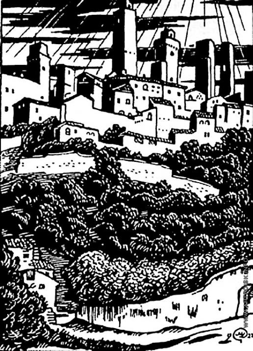Добужинский М. В. Иллюстрация к «Воспоминаниям об Италии»