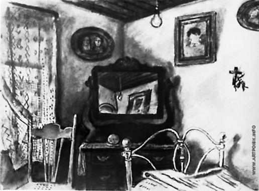 Добужинский М. В. Спальня в канадской деревне