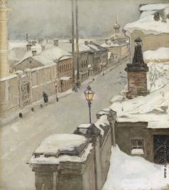 Якунчикова М. В. Москва зимой. Вид из окна на улицу Средняя Кисловка