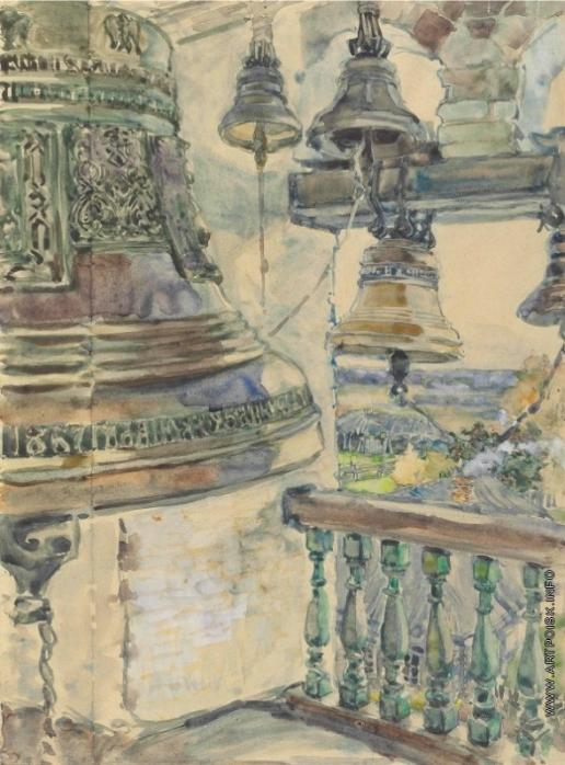 Якунчикова М. В. Вид с колокольни Саввино-Сторожевского собора в Звенигороде