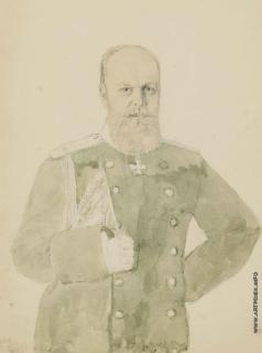Зичи М. А. Портрет императора Александра III