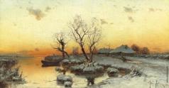 Клевер Ю. Ю. Закат на болоте