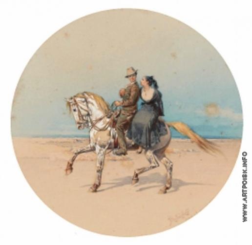 Прянишников И. П. Двое на лошади