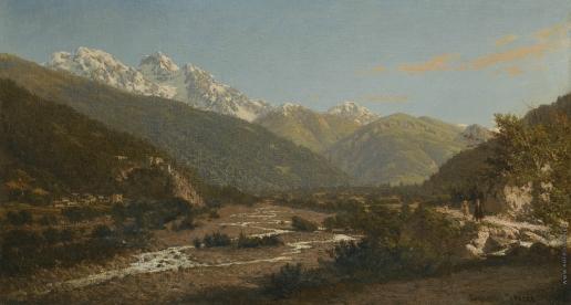 Верещагин П. П. Вид на гору Караугом, Кавказ