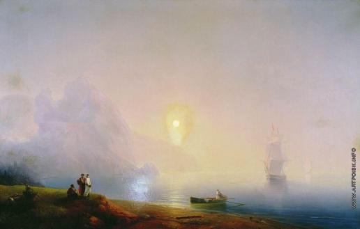 Айвазовский И. К. Берег моря. Туманное утро