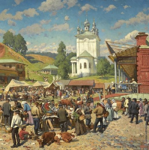 Маковский А. В. Базарный день в Плесе