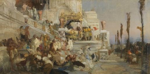 Семирадский Г. И. Эскиз к картине «Факелы Нерона»