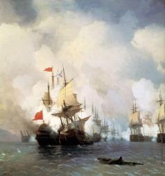 Айвазовский И. К. Бой в Хиосском проливе 24 июня 1770 года