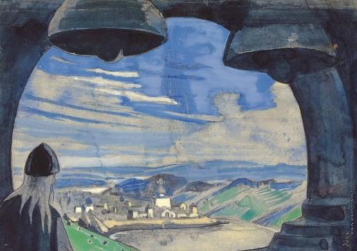 Рерих Н. К. Эскиз к картине «Terra Slavonica»