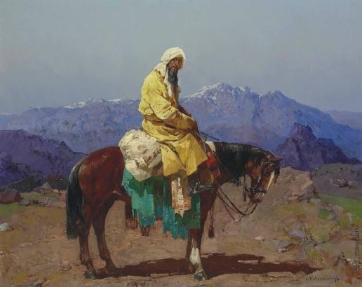 Колесников С. Ф. Наездник на лошади. Туркестан