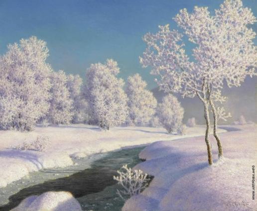 Шультце И. Ф. Зимнее утро в Энгадине