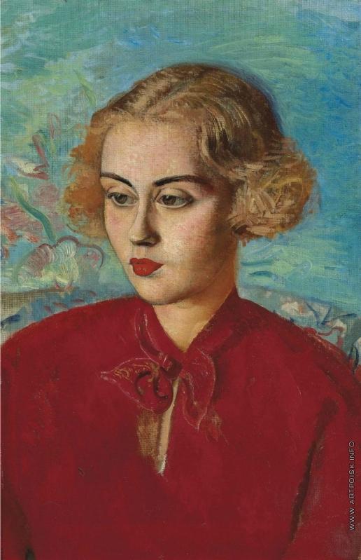 Григорьев Б. Д. Женщина в красном