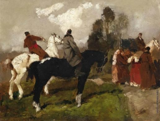 Исупов А. В. Пейзаж. Русские на лошадях
