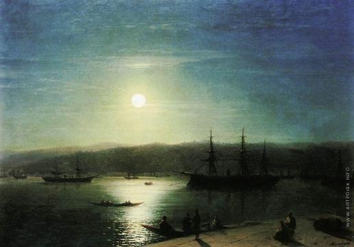 Айвазовский И. К. Босфор в лунную ночь