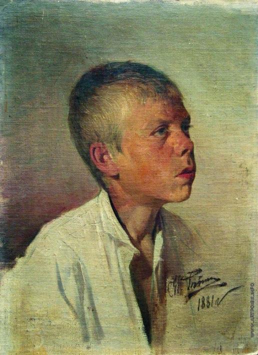 Репин И. Е. Портрет мальчика