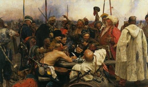 Репин И. Е. Запорожцы пишут письмо турецкому султану