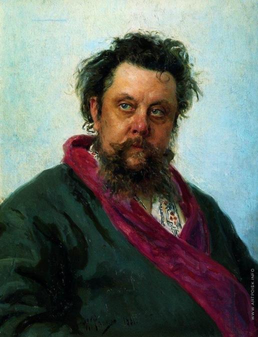 Репин И. Е. Портрет композитора М.П.Мусоргского